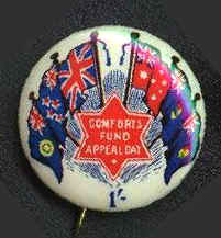 Aust. Comforts Fund Appeal badge
