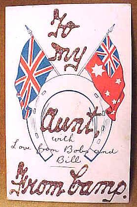 To my aunty postcard